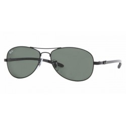 GAFA DE SOL RAY-BAN RB8301 TECH | CARBON FIBRE 002 BLACK crystal green