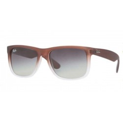 Gafas de sol Ray-Ban RB4165 JUSTIN 854/7Z RUBBER BROWN ON GREY green gradient