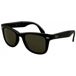 Gafas de sol Ray-Ban RB4105 FOLDING WAYFARER 601/58 BLACK CRYSTAL GREEN POLARIZED