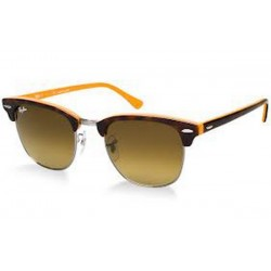 Gafas de sol Ray-Ban RB3016 CLUBMASTER 112685 TOP DARK HAVANA ON ORANGE/GUNM