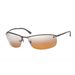 Gafas de sol Ray-Ban RB3183 TOP BAR 014/84 BROWN BROWN POLAR GRAD SILVER MIRROR