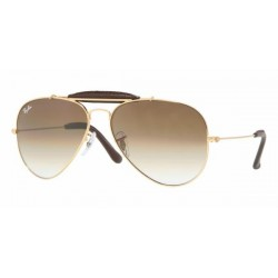 Gafas de sol Ray-Ban RB3422Q OUTDOORSMAN CRAFT 001/51 ARISTA/BROWN LEATHER