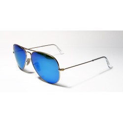 Gafas de sol Ray-Ban RB3025 AVIATOR 112/4L MATTE GOLD BLUE MIRROR POLAR