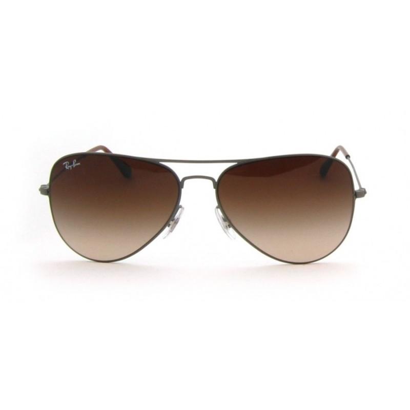 19d1a314a7 gafas de sol ray ban rb3513 aviator flat metal 147 13 demi gloss sand  gunmetal brown gradient