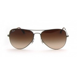 Gafas de sol Ray-Ban RB3513 AVIATOR FLAT METAL 147/13 DEMI GLOSS SAND GUNMETAL BROWN GRADIENT