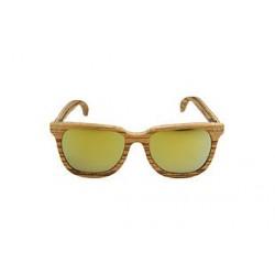 Gafas de sol de madera Feler modelo Charles Zebrano Oro Espejo