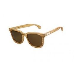 Gafas de sol de madera Feler modelo Charles Zebrano marrón neutro