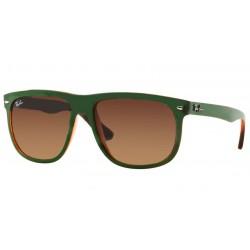 Gafas de sol Ray Ban Sun RB4147 HIGHSTREET 613713 TOP MAT GREEN ON TRASP BROWN