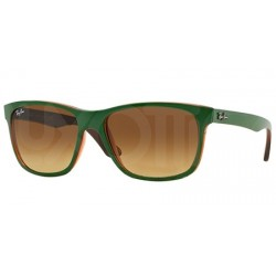 Gafas de sol Ray Ban Sun RB4181 HIGHSTREET 613785 TOP MATTE GREEN ON TRASP BROWN