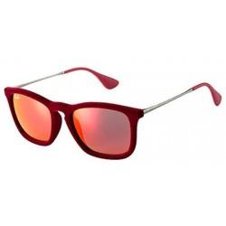 Gafas de sol Ray Ban Sun RB4187 CHRIS 60786Q FLOCK BORDEAUX