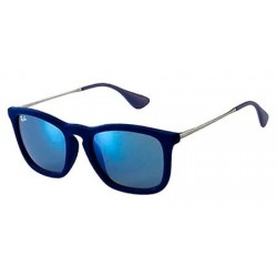 Gafas de sol Ray Ban Sun RB4187 CHRIS 608155 FLOCK BLUE