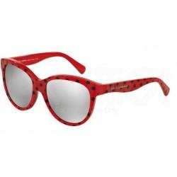 Gafas de sol DOLCE & GABBANA DG4176 MATT SILK 28736G POIS BLACK ON RED