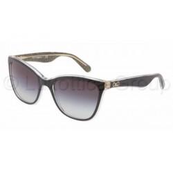 Gafas de sol DOLCE & GABBANA DG4193 LIP GLOSS 27378G TOP BLACK/GLITTER GOLD